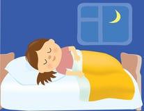 Mädchenschlafen Stockbilder