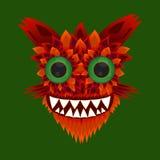 Illustration eines Monsters mit grünen Augen Stock Abbildung