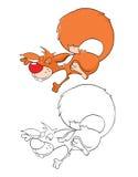 Illustration eines netten Eichhörnchens Hundekopf mit einem netten glücklichen und unverschämten Lächeln getrennt auf einem weiße vektor abbildung