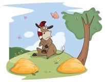Illustration eines netten kleinen Burro Buridan-` s Esel Lizenzfreie Stockbilder