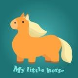 Illustration eines netten kleinen Pferds Stockfotos