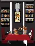 Illustration eines Paares erschöpft von der Lesung lizenzfreie abbildung