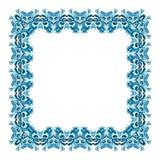 Illustration eines quadratischen Rahmens vom abstrakten Element stock abbildung