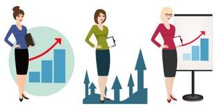 Illustration eines qualifizierten Managers auf weißem Hintergrund Lizenzfreie Stockfotos