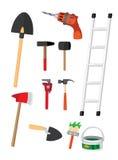 Satz Werkzeuge Stockbilder