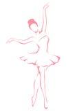 Illustration eines schönen Balletttänzers Stockfotografie