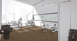 Illustration eines Schönheitssaloninnenraums Lizenzfreie Stockbilder