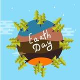 Illustration eines umweltfreundlichen grüne Erddesigns Lizenzfreie Stockfotos