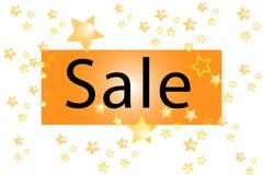Illustration eines Verkaufs auf einem weißen Hintergrund mit gol Stockfotos
