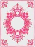 Illustration eines Weinleserahmens in der rosa Farbe vektor abbildung