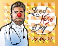 Illustration eingeweiht dem roten Nasen-Tag lizenzfreie abbildung