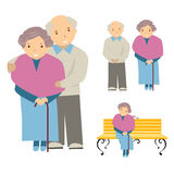 Illustration of the elderly Royalty Free Stock Image
