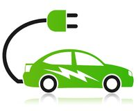 Electric car concept vector illustration
