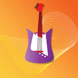 Illustration of electric guitar Royalty Free Stock Photos