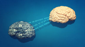 illustration of electronic brain vector illustration