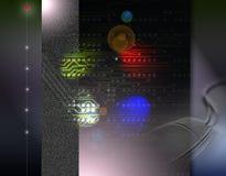 Electronic circuit on black background. Illustration of electronic circuit on black background Royalty Free Stock Image