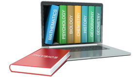 Illustration of electronic library concept. Education Stock Images