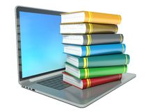 Illustration of electronic library concept. Education Stock Photography
