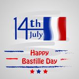 Happy Bastille Day Background. Illustration of elements of Bastille Day celebrated as France national day on 14th of July vector illustration