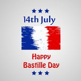 Happy Bastille Day Background. Illustration of elements of Bastille Day celebrated as France national day on 14th of July stock illustration