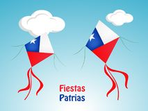 Illustration of Chile`s National Independence Day Fiestas Patrias background vector illustration
