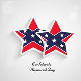 Illustration of Confederate Memorial Day background. Illustration of elements of Confederate Memorial Day background Stock Images