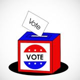 Illustration of election day background Royalty Free Stock Images