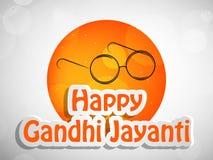 Illustration of Gandhi Jayanti Background Stock Images