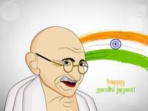 Illustration of Gandhi Jayanti Background Royalty Free Stock Image