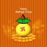 Illustration of Hindu festival Akshaya Tritiya background. Illustration of elements of Hindu festival Akshaya Tritiya background Stock Image