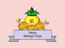 Illustration of Hindu festival Akshaya Tritiya background. Illustration of elements of Hindu festival Akshaya Tritiya background Stock Photo