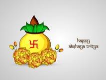 Illustration of Hindu festival Akshaya Tritiya background. Illustration of elements of Hindu festival Akshaya Tritiya background Stock Images