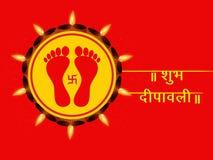 Illustration of hindu festival Diwali background Royalty Free Stock Image