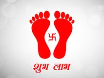 Illustration of hindu festival Diwali background Stock Image