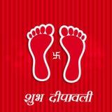 Illustration of hindu festival Diwali background Stock Images