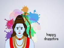 Illustration of hindu festival Dussehra background Royalty Free Stock Photos