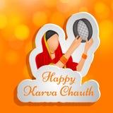 Illustration of Hindu Festival Karva Chauth background. Illustration of elements of Hindu Festival Karva Chauth background Royalty Free Stock Photo