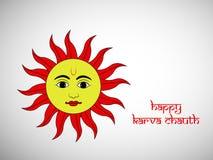 Illustration of Hindu Festival Karva Chauth background. Illustration of elements of Hindu Festival Karva Chauth background Royalty Free Stock Image