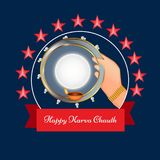 Illustration of Hindu Festival Karwa Chauth background Royalty Free Stock Images