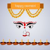 Illustration of hindu festival Navratri Background. Illustration of elements of hindu festival Navratri Background Royalty Free Stock Photography