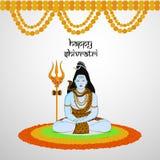 Illustration of Hindu festival Shivratri background. Illustration of elements of Hindu festival Shivratri background Royalty Free Stock Photography