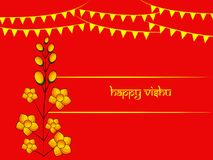 Illustration of Hindu festival Vishu Background. Illustration of elements of Hindu festival Vishu Background. Celebrated in the Indian state of Kerala Stock Photo