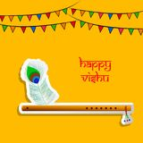 Illustration of Hindu festival Vishu Background. Illustration of elements of Hindu festival Vishu Background. Celebrated in the Indian state of Kerala Royalty Free Stock Photo