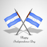 Illustration of Honduras Independence Day background Stock Images