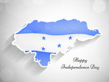 Illustration of Honduras Independence Day background Royalty Free Stock Images