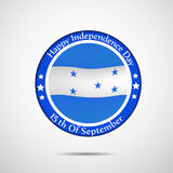 Illustration of Honduras Independence Day background Stock Photography