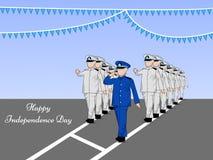 Illustration of Honduras Independence Day background Royalty Free Stock Photo