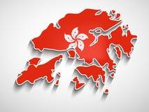 Illustration of Hongkong National Day Background. Illustration of elements of Hongkong National Day Background royalty free illustration