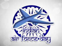Illustration of Indian Airforce Day Background. Illustration of elements of Indian Airforce Day Background Royalty Free Stock Image