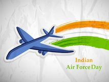 Illustration of Indian Airforce Day Background. Illustration of elements of Indian Airforce Day Background Royalty Free Stock Images